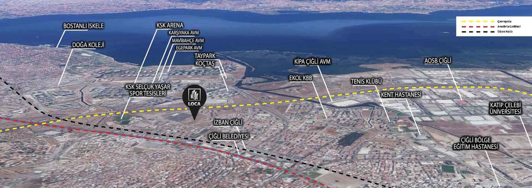 Loca Ataşehir İzmir Lokasyon