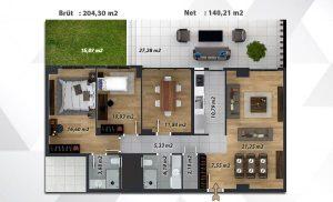 Bahçe Katı Kat Planı Loca Ataşehir İzmir